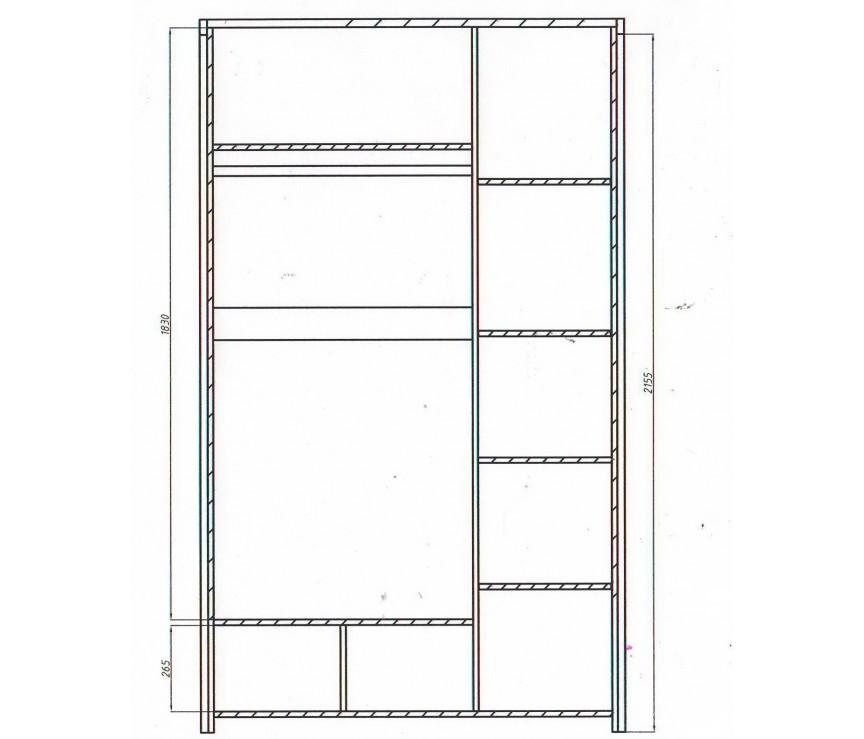 """Коллекция «Шкаф для одежды 3-дверный """"Мишель"""" ВМФ-6652 (высота 2200)»"""