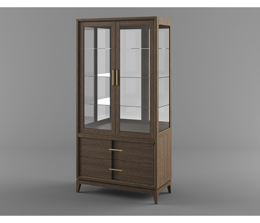 """Коллекция «Шкаф с витриной В2/3 """"Boston"""" ВМФ-1654»"""