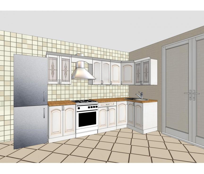 """Коллекция «Набор мебели для кухни """"Элегия-Люкс""""  Белая эмаль  Д9 (31180)»"""