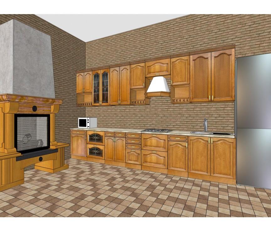 Коллекция «Набор мебели для кухни Элегия-Люкс ПМП образец»