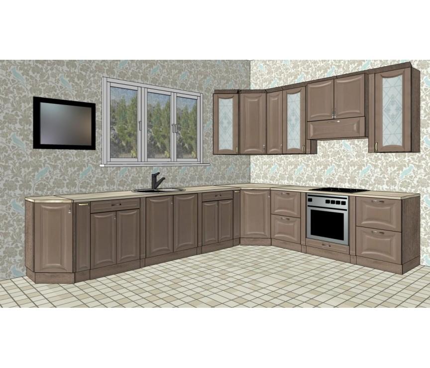 """Коллекция «Набор мебели для кухни """"Валенсия"""" Молочный шоколад 26208»"""